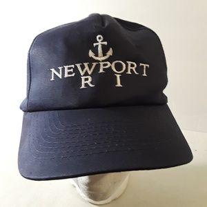Vintage 90's Rhode Island Anchor Snap Back Hat